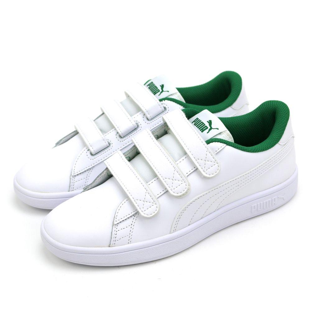 PUMA Smash v2 V 男女 休閒鞋 白綠色