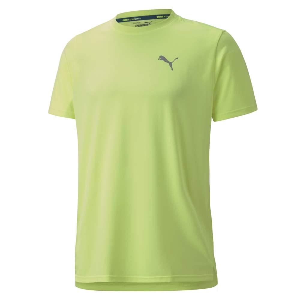 PUMA 慢跑系列Lite短袖T恤 男 短袖上衣 螢光黃
