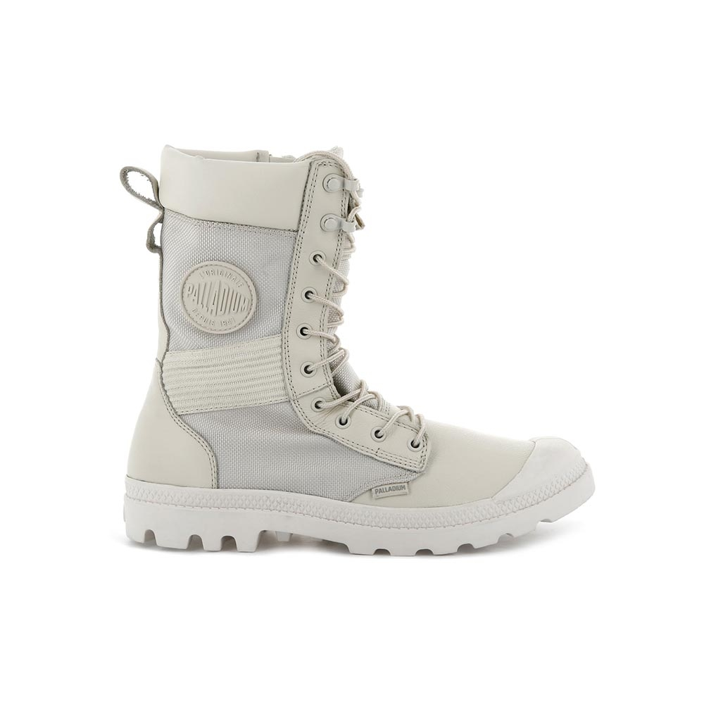 Palladium TACTICAL OPS WP 男女 皮革防水高筒靴 米色