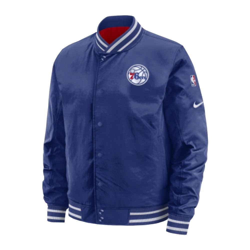 NIKE NBA Courtside 雙面穿外套 76人 藍色