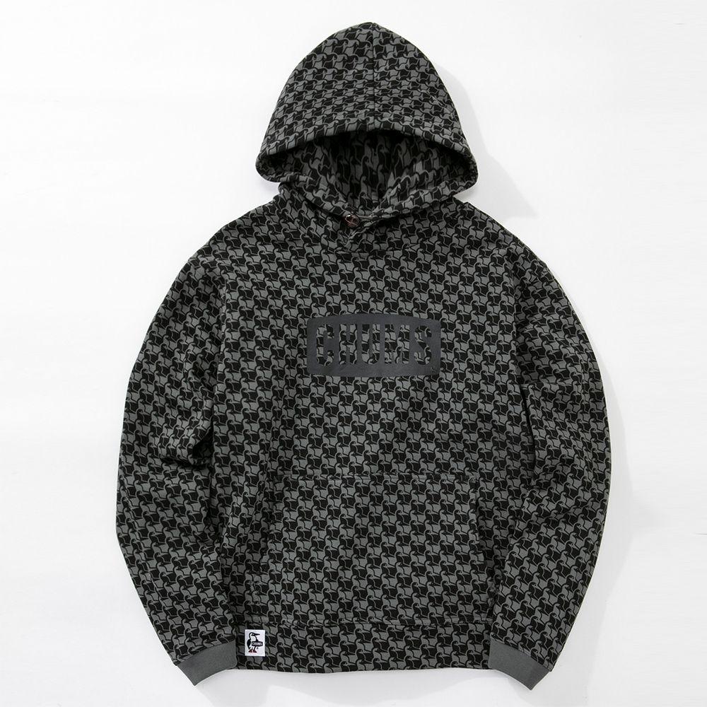 CHUMS Logo Pullover Parka 兜帽套頭衫 黑迷彩
