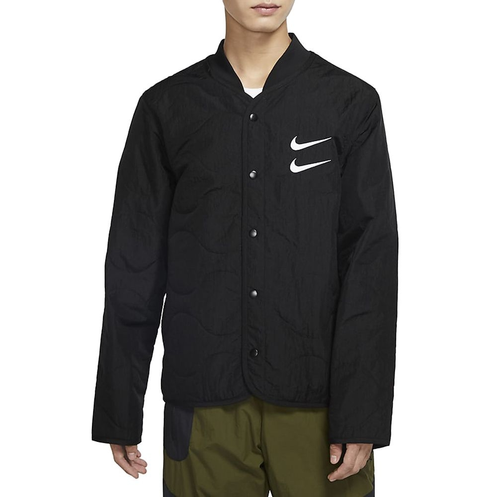 NIKE AS M NSW SWOOSH JKT+ QUILTED 男 外套 黑