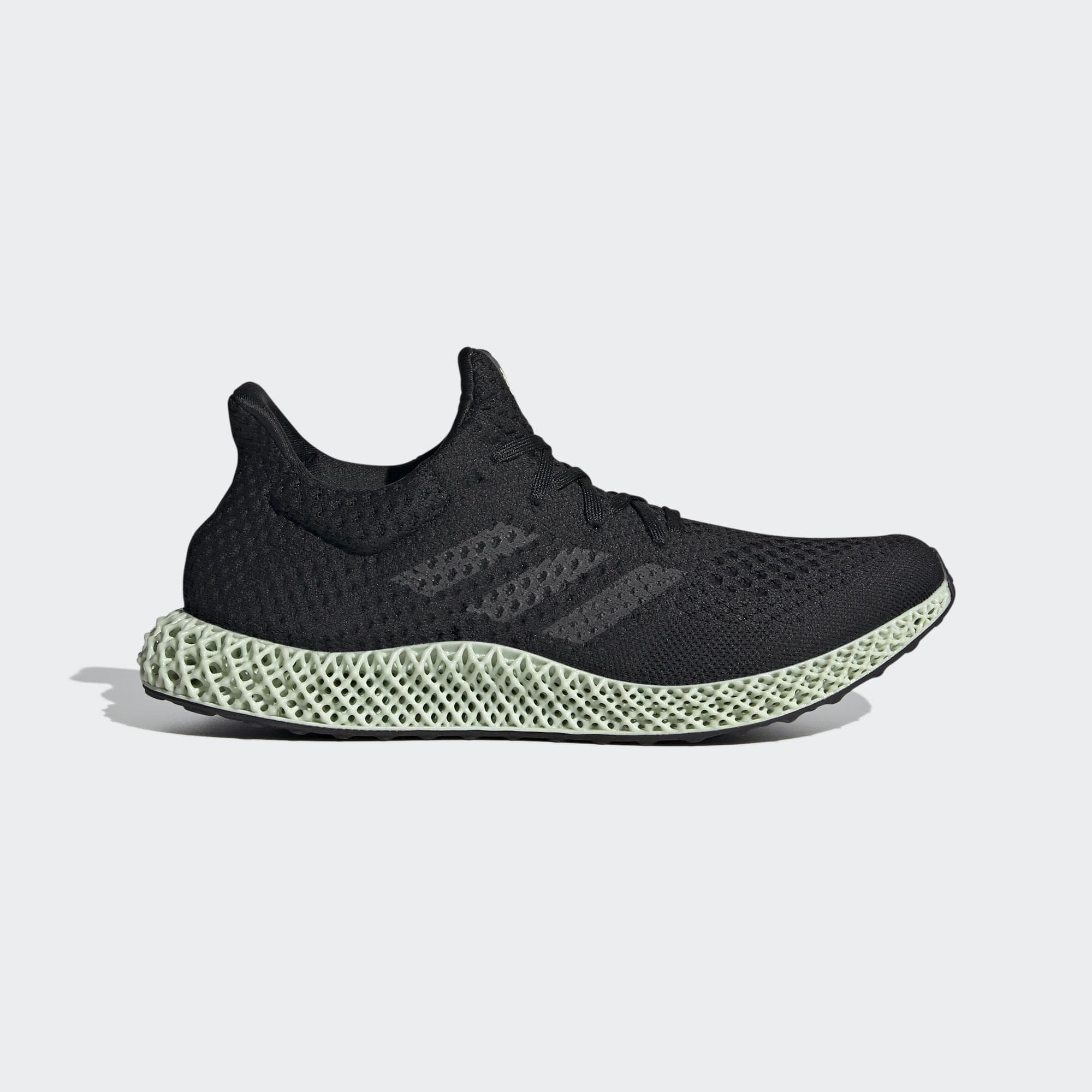 ADIDAS 4D FUTURECRAFT 男女 慢跑鞋 黑綠