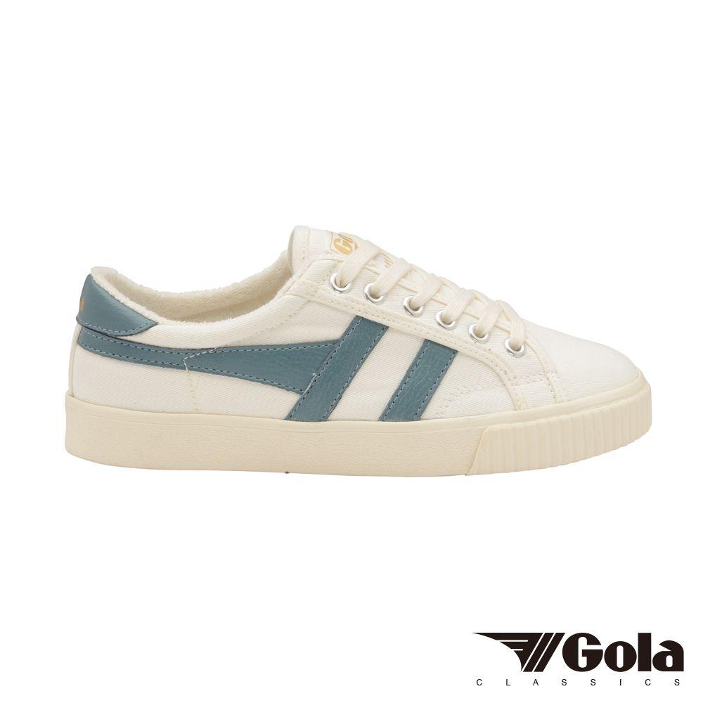 Gola Tennis Mark Cox 女 帆布鞋 白/藍綠色