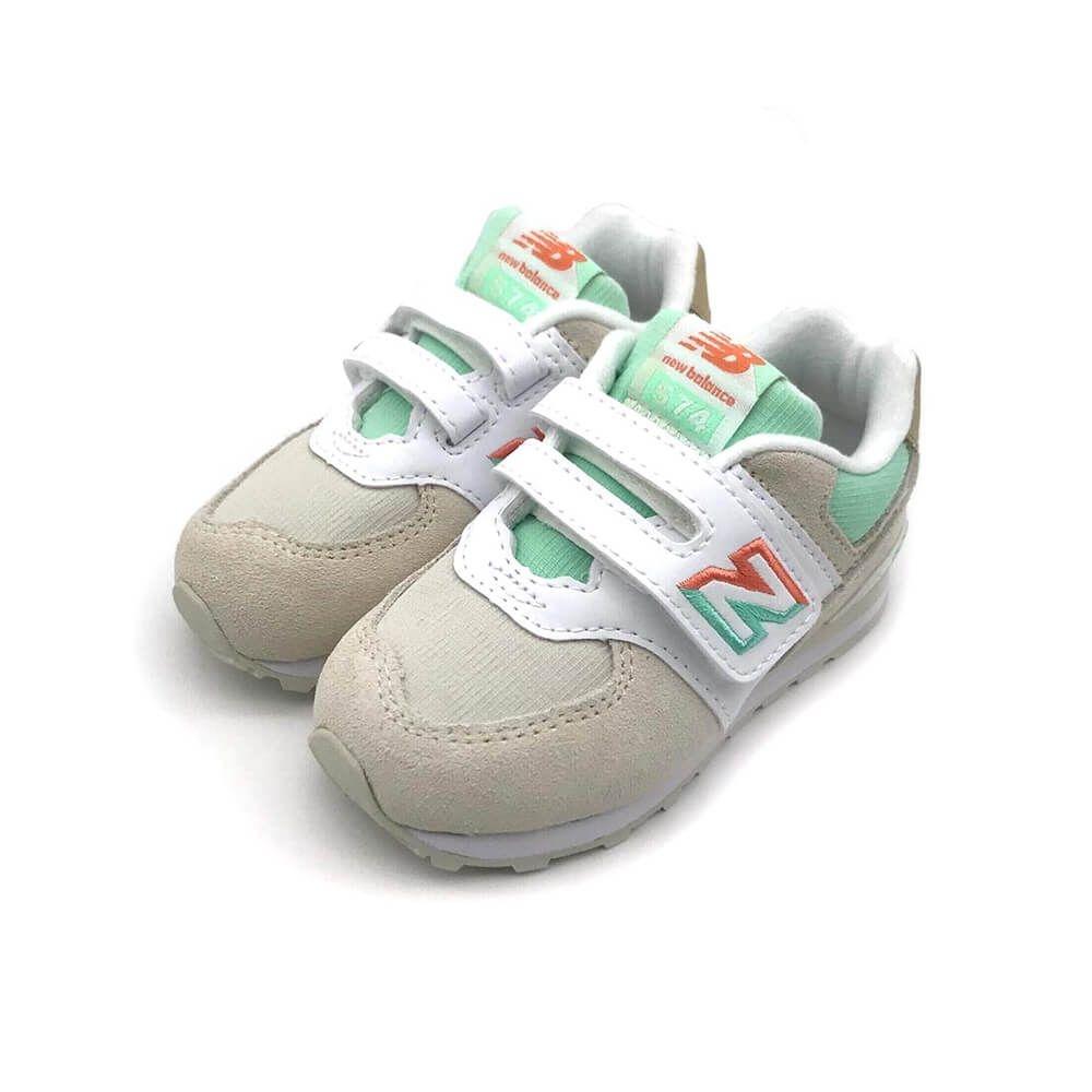 New Balance 574系列  嬰幼 休閒鞋 白灰