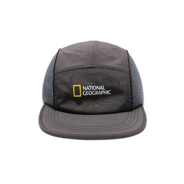 National Geographic LINE CAMP CAP 休閒帽 灰