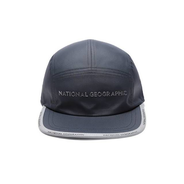 National Geographic LOGO BILL 5 PANEL CAP 休閒帽 灰