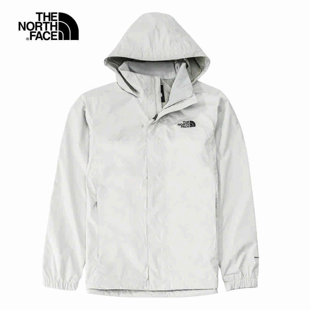 The North Face 男 防水透氣衝鋒外套 白色