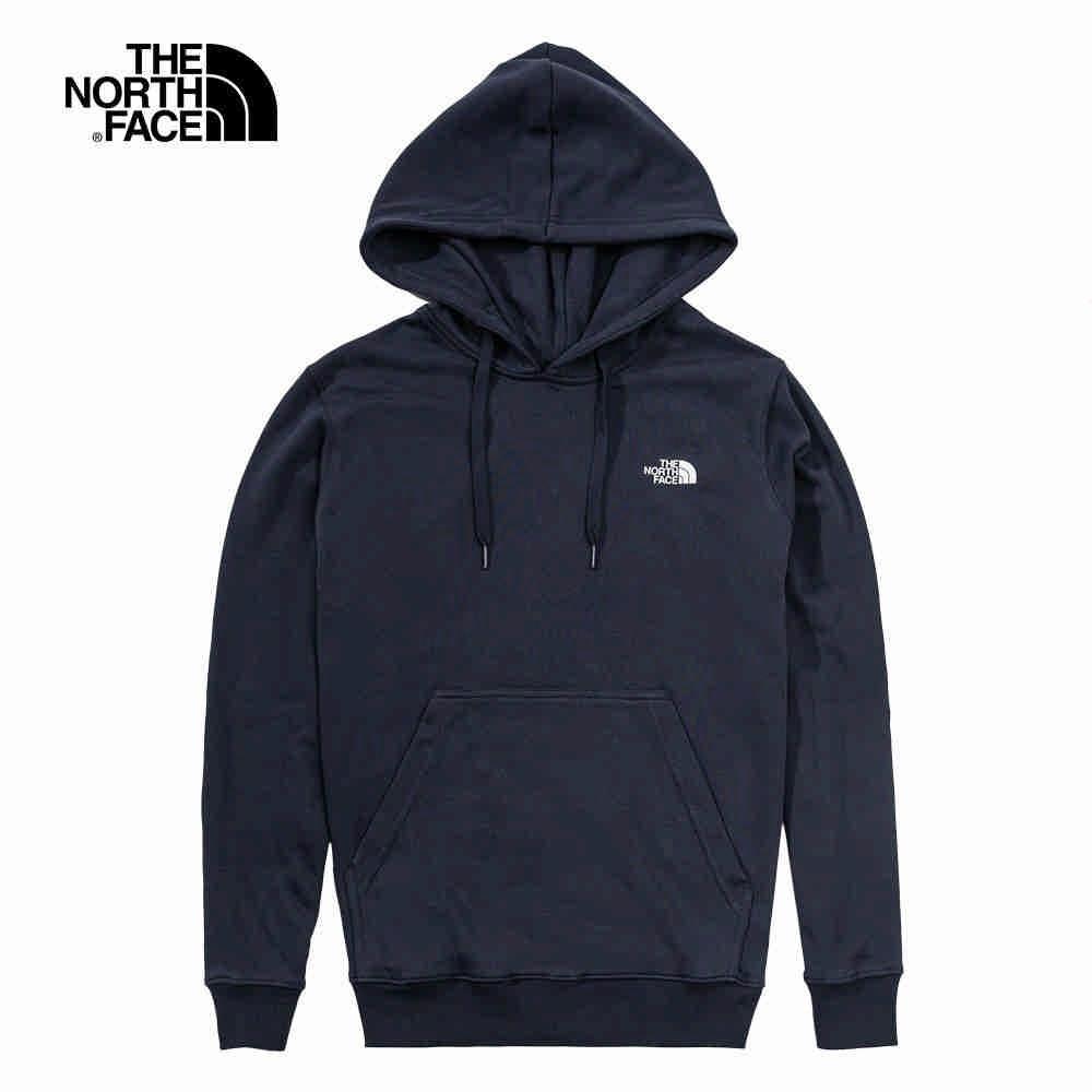 The North Face 男女 長袖連帽T恤 深藍