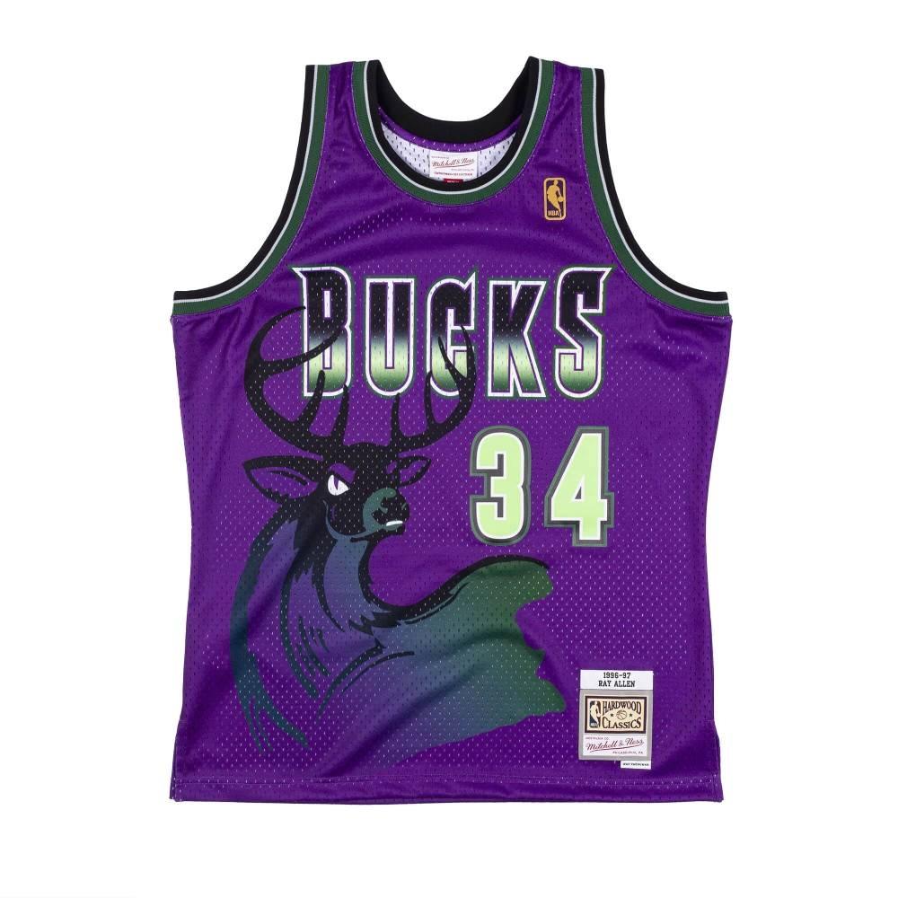 M&N NBA RELOAD 異色 復古球衣 公鹿隊 96-97 #34 Ray Allen