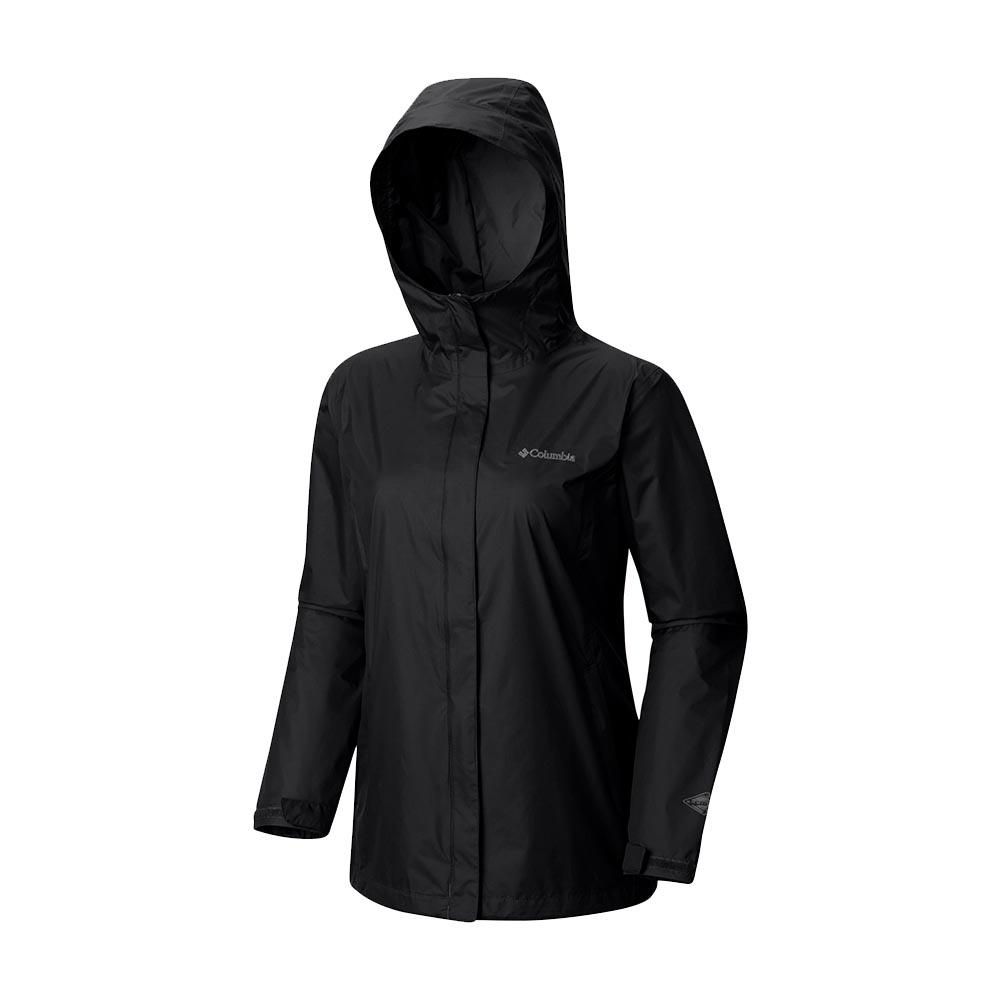 Columbia 女 OT單件式防水外套 黑色
