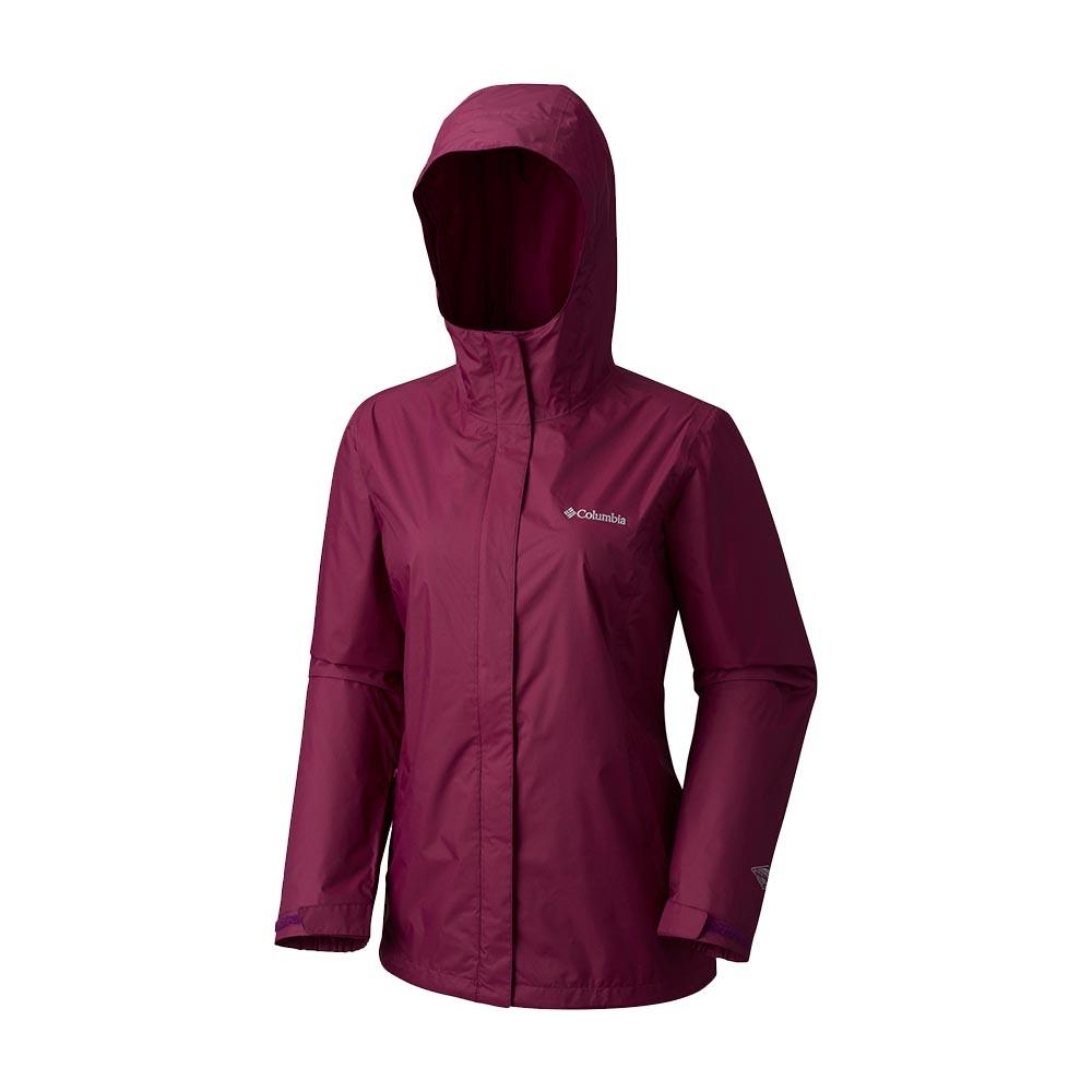 Columbia 女 OT單件式防水外套 暗紫