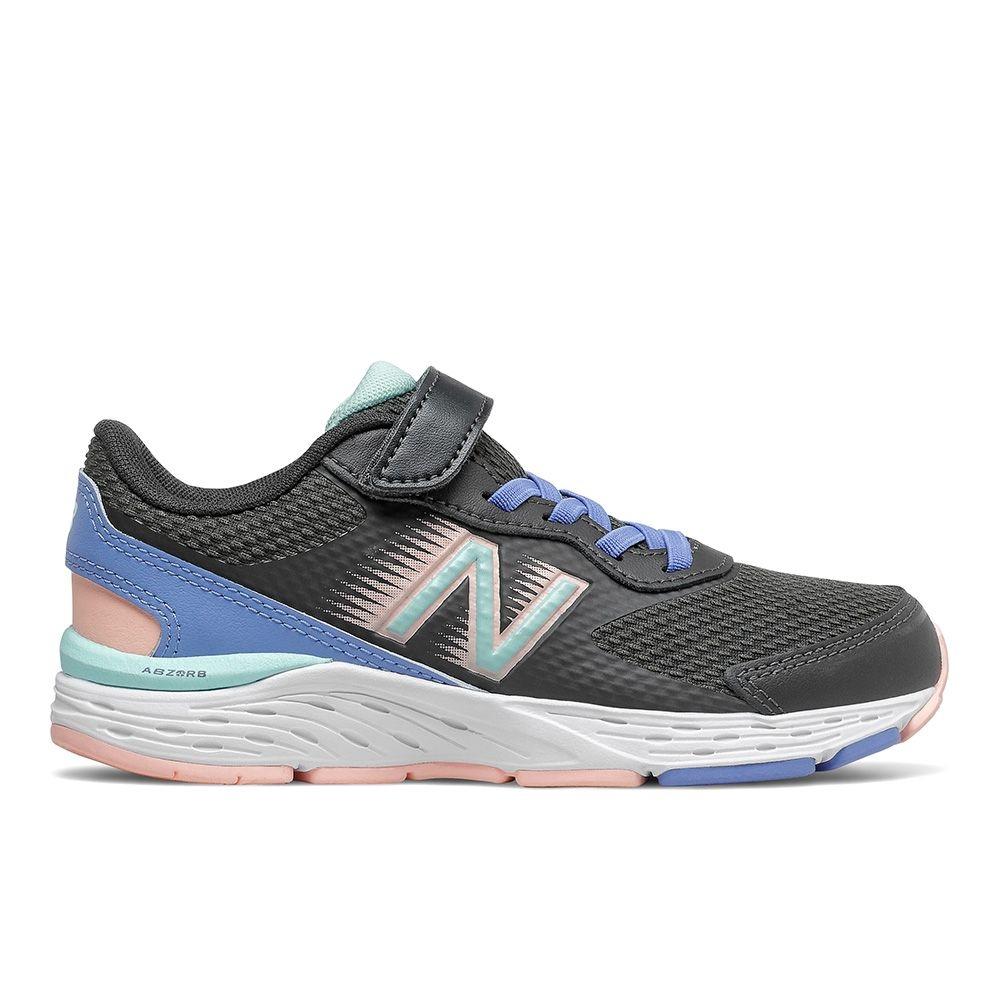New Balance 680v6 中大童 緩震跑鞋 黑/藍