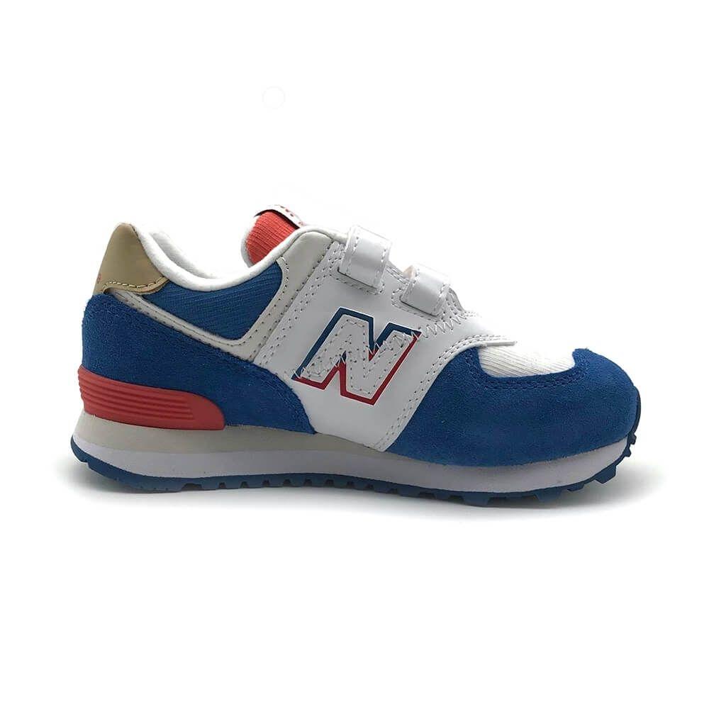 New Balance 574 系列  男女大童 休閒鞋 白藍